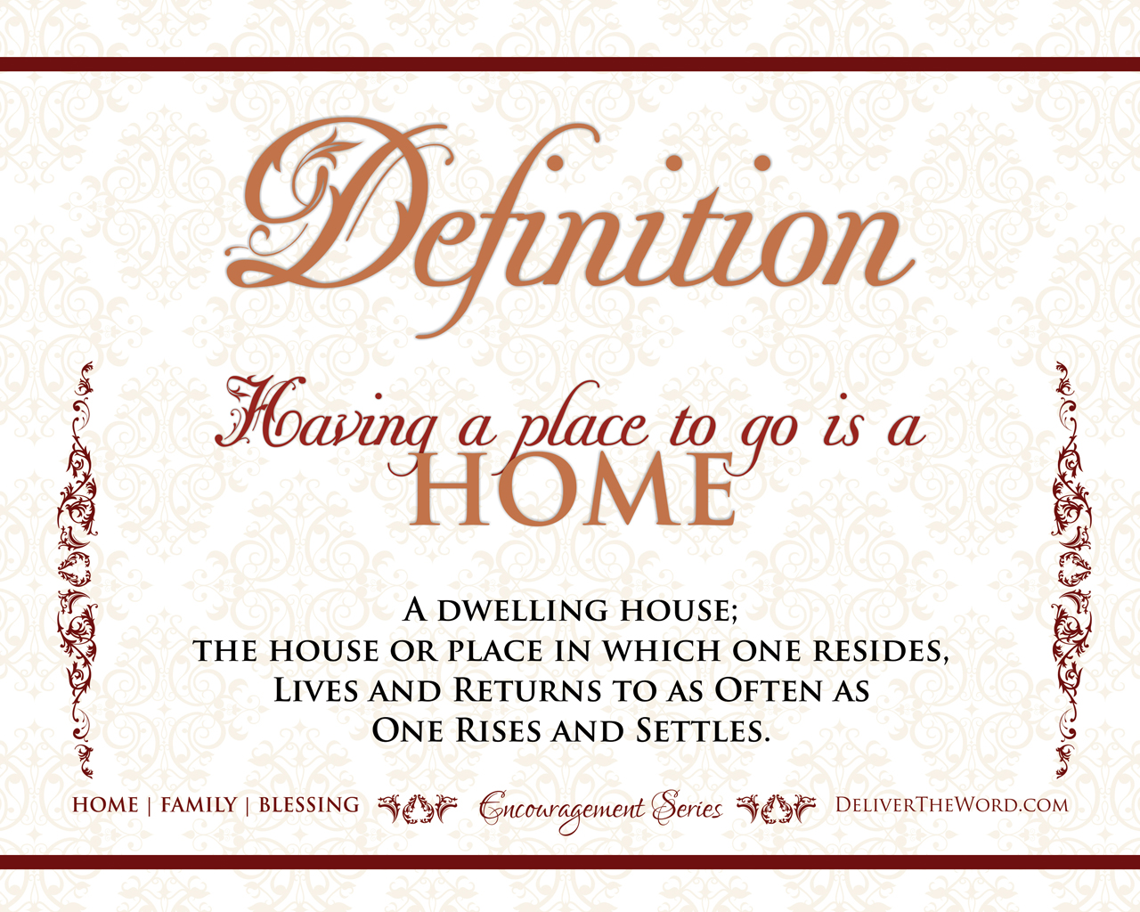 Quotes Definition Definitions  Home Family & Blessing