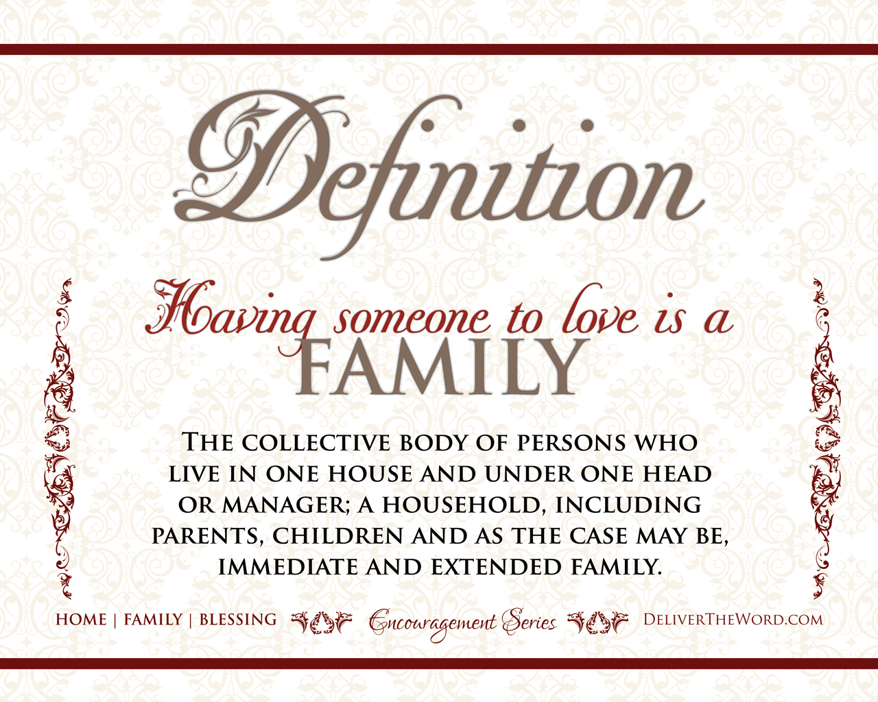 Definitions | Home, Family & Blessing
