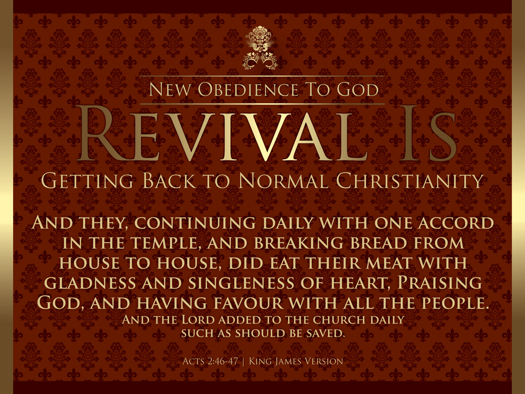 Standard Set New Obedience To God