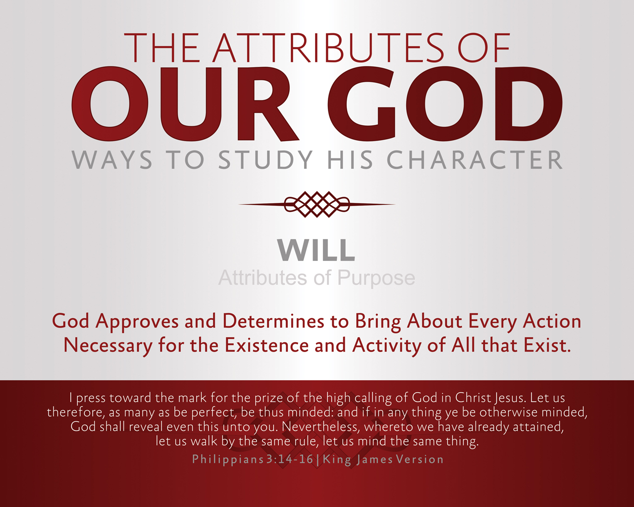Prints – The Attributes of Our God
