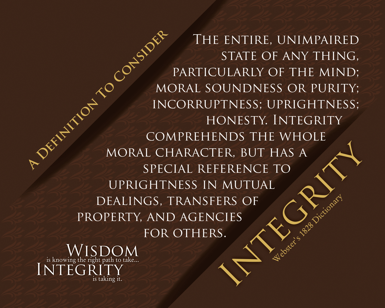 integrity definition essay Integrity essay writing help how can you judge a person on the basis of his/her view of integrity is the definition of integrity universal.